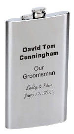 12 ounce personalized flask