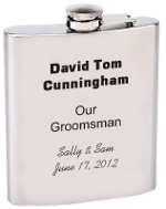 18 ounce personalized flask