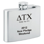 fishing personalized flask