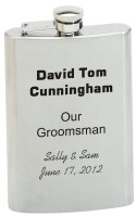 8 ounce personalized flask